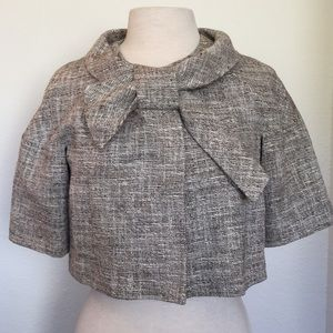 SportMax by Max Mara - Gray Tweed Cropped Jacket